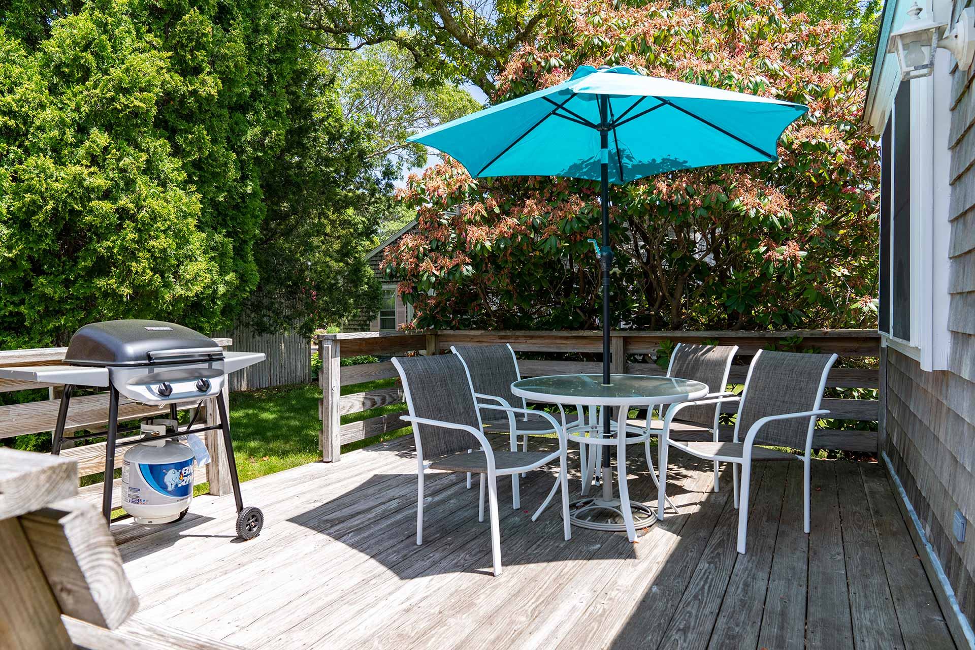 Cape Cod Vacation Rental Relaxing Patio With BBQ