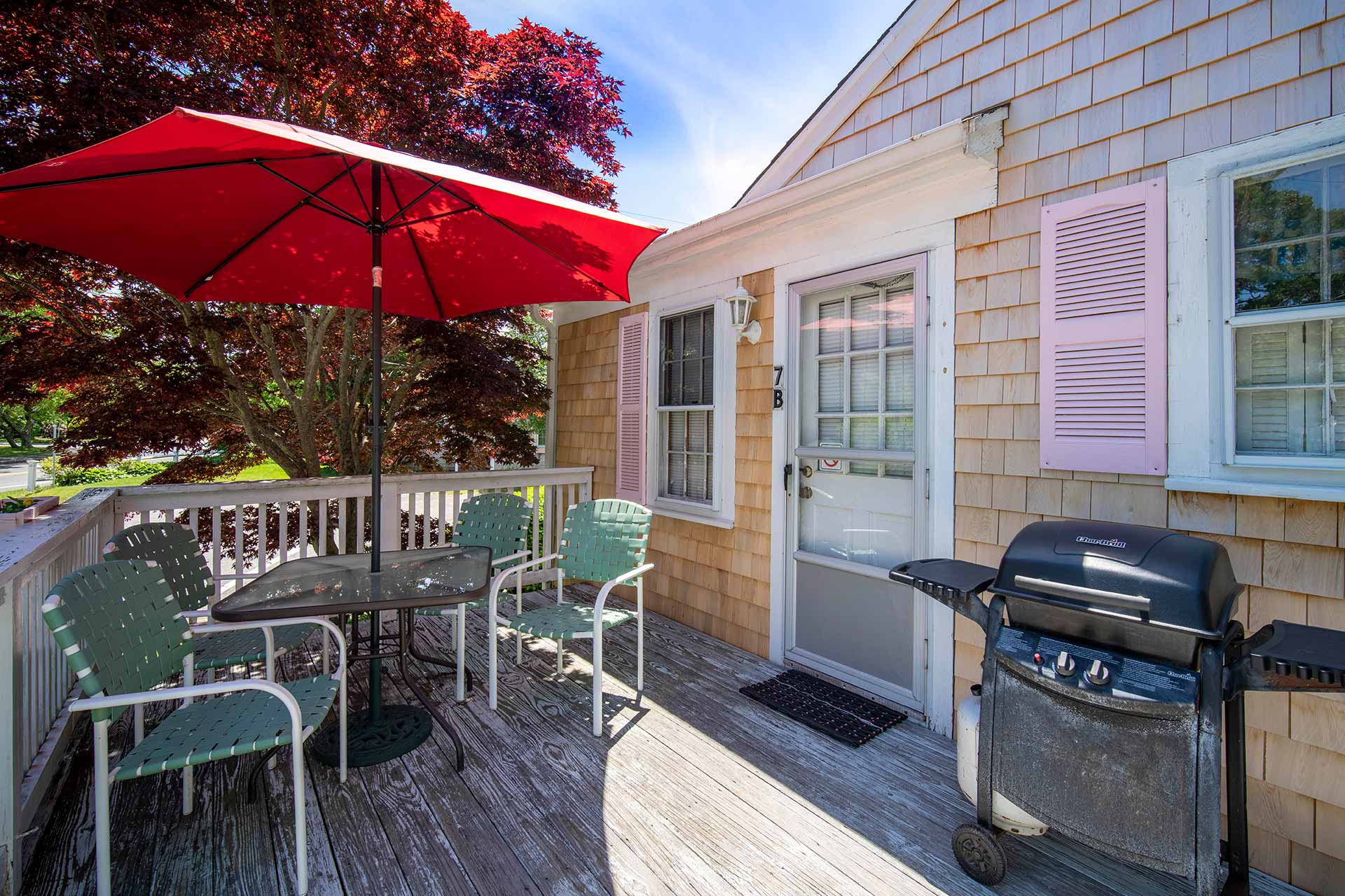 Cape Cod Studio Rental Patio