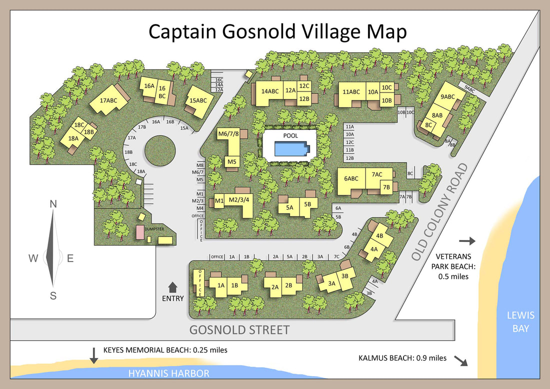 Property Map Of Captain Gosnold Village